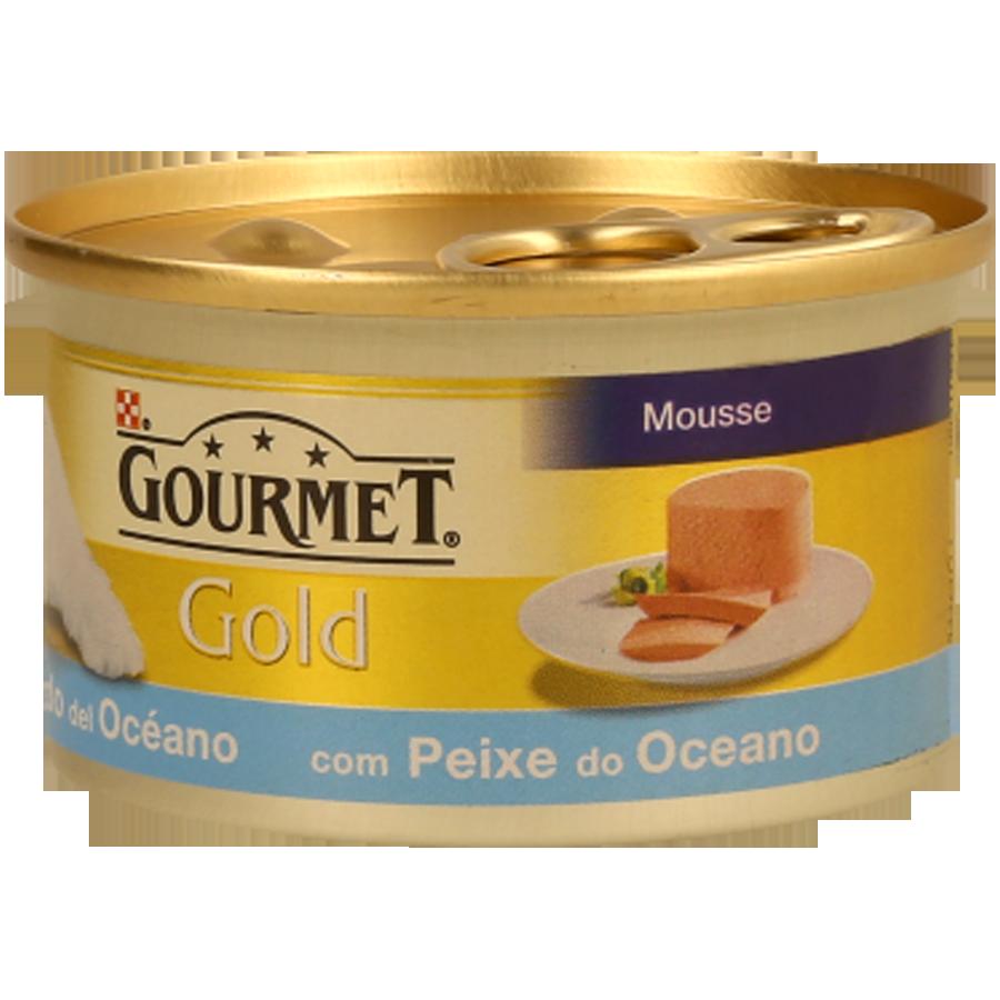 Comida Humida Gato Gourmet Gold Peixes Do Oceano 85G