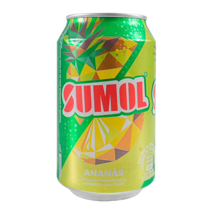Refr C/Gás Sumol Ananás Lata 33Cl