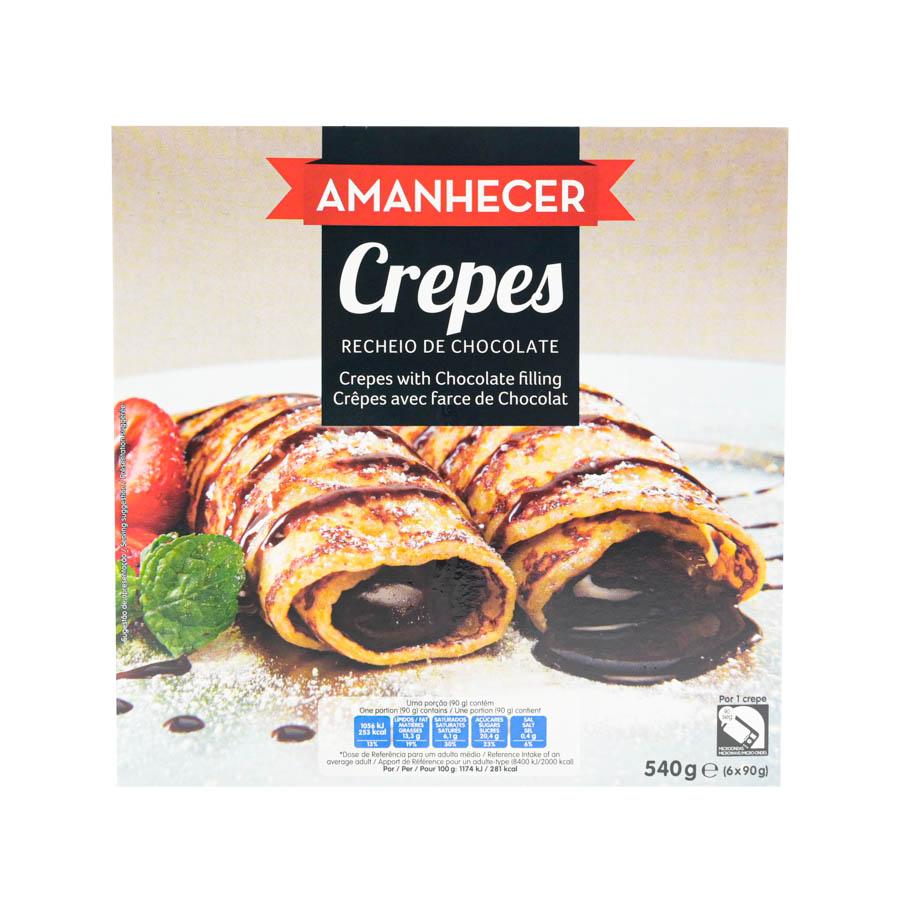 Crepes Amanhecer Chocolate 6X90G