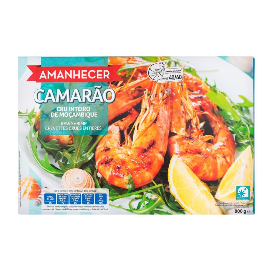 Camarao Amanhecer 40/60 800Gr