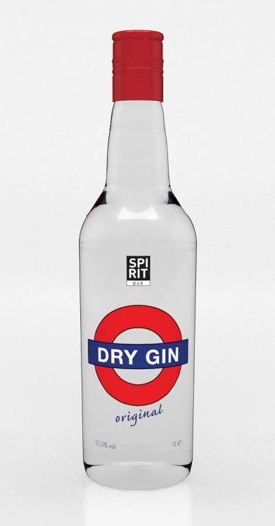 DRY GIN SPIRIT BAR 1LT