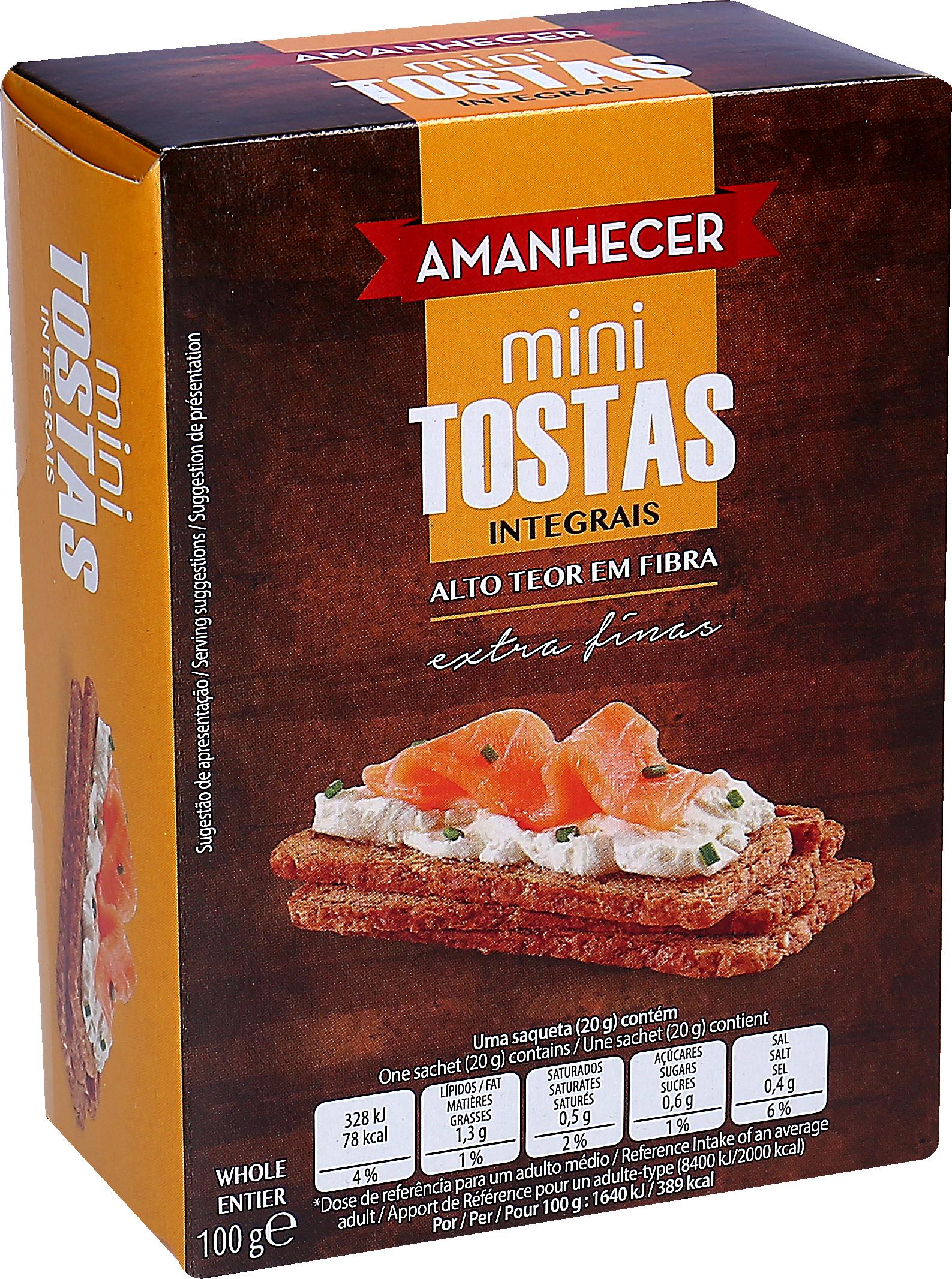Tosta Amanh Mini Integ.100Gr
