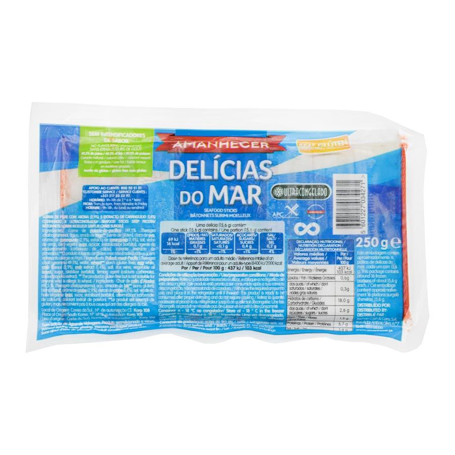 DELÍCIAS DO MAR AMANHECER S/GLUTEN 250GR