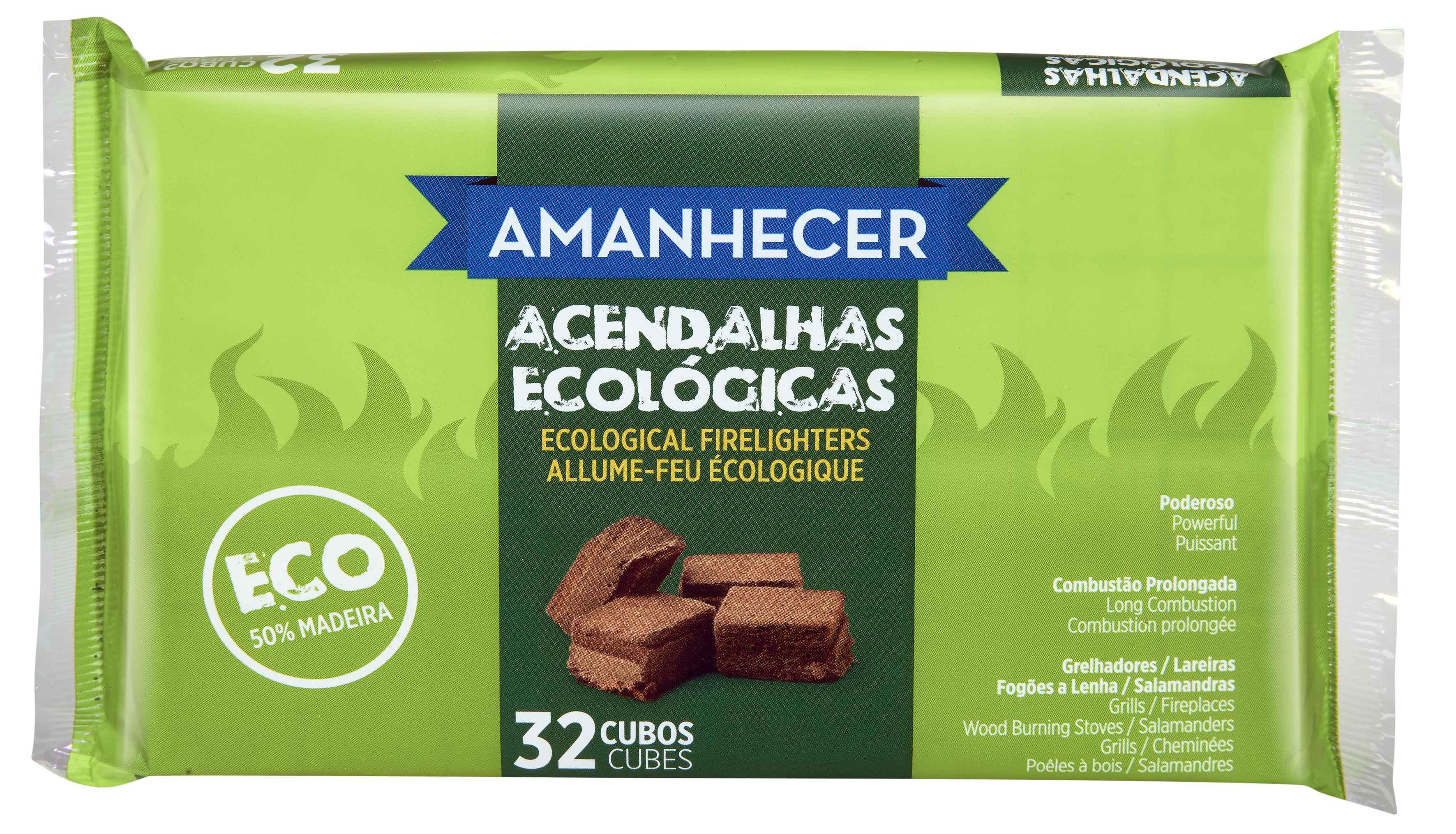 Acendalha Eco Amanh 32 Cubos