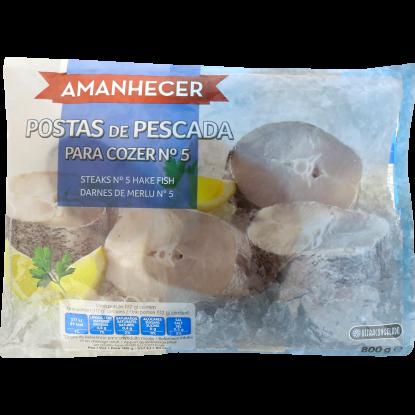 PESCADA DE COZER Nº5 CONGELADA AMANHECER  SACO 800 GR