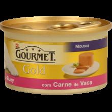 COMIDA HÚMIDA GATO GOURMET GOLD VACA 85 G