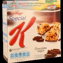 BARRAS CEREAIS CHOCOLATE NEGRO SPECIAL K KELLOGG'S 6X21,5 GR