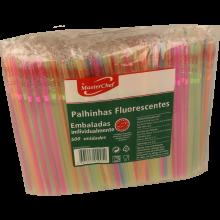 PALHINHAS FLUORESCENTES INDIVIDUAIS MASTERCHEF 500 UNIDADES