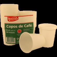 COPOS CAFÉ DESCARTÁVEIS BRANCO MASTERCHEF 100 UNIDADES