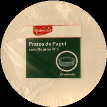 PRATOS PAPEL COM NAPERON Nº5 MASTERCHEF2 5 UNIDADES