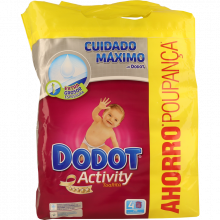 TOALHITAS ACTIVITY DODOT 4X54 UNIDADES