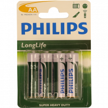 PILHA LONGLIFE R6 BL4 PHILIPS