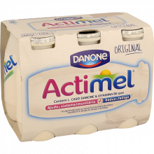 IOGURTE LÍQUIDO ACTIMEL NATURAL 6 X 100 ML
