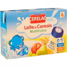 FARINHA LÁCTEA LÍQUIDA MULTIFRUTOS CEREL AC 2X200 ML