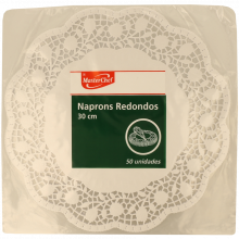 NAPERON PAPEL REDONDO 30 CM MASTERCHEF 50 UNIDADES
