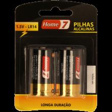 PILHA ALCALINA LR14 BL2 HOME7 2 UNIDADES