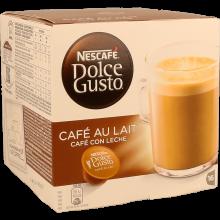 CÁPSULAS CAFÉ AU LAIT NESCAFÉ DOLCE GUSTO 16 UNIDADES