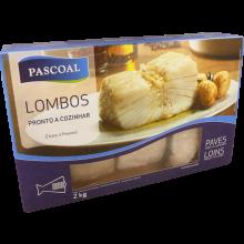 LOMBOS DE BACALHAU CONGELADOS PASCOAL CX 2 KG