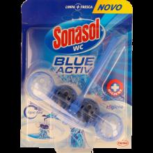 BLOCO SANITÁRIO SÓLIDO SONASOL BLUE ACTIVO HIGIENE 1 UN