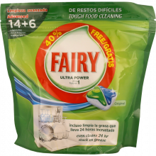 DETERGENTE LOIÇA MÁQUINA PASTILHAS FAIRY ALL IN ONE REGULAR 14 + 2 UN