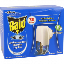 INSETICIDA ELÉTRICO LÍQUIDO RAID 21 ML 30 NOITES