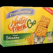 BOLACHA INTEGRAL NUTRIFIBRA SÉSAMO GO PROALIMENTAR 180 GR