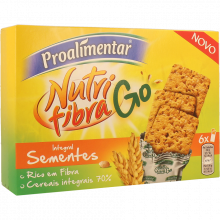 BOLACHA INTEGRAL NUTRIFIBRA SEMENTE GO PROALIMENTAR 180 GR