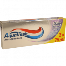 PASTA DENTÍFRICA BRANQUEADORA AQUAFRESCH  2X75 ML