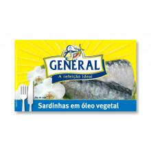 SARDINHA GENERAL EM ÓLEO VEGETAL 125G