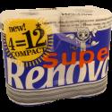 PAPEL HIG RENOVA 2F SUPER 4=12R