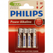 PILHA PHILIPS POWER LIFE BL4 LR03