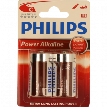 PILHA PHILIPS POWER LIFE BL2 LR14