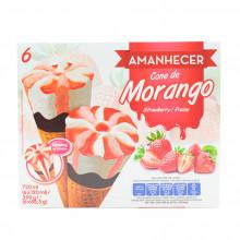 GEL.CONES AMANHECER MORANGO.6X120ML