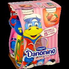 IOG LIQ DANONINO BEBEDINO 4X100, MORANGO
