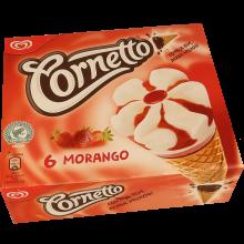 GEL OLÁ MPK CORNETTO MORANGO 6X90ML