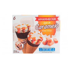 GEL.CONES AMANHECER CARAMELO 6X120ML