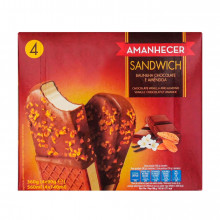GELADO AMANH SANDWICH AMENDOAS 4X140ML
