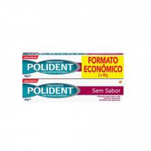 CREME POLIDENT S/SABOR 2X40G