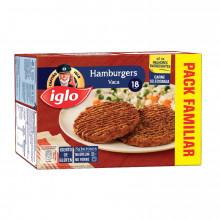 18 HAMBURGERS VACA CAP IGLO S/GLUT 1,4KG