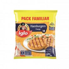 18 HAMB FRANG S/GLUT CAPITÃO IGLO 1,08KG