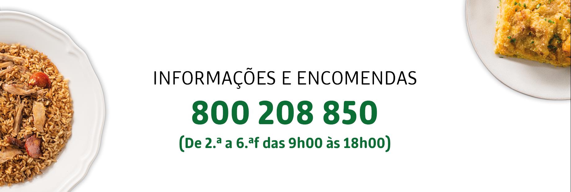 informações e encomendas 800 208 850 2a a 6a das 9-18h